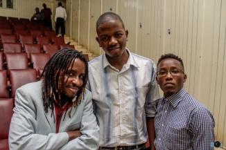 Tony Mochama, I and Wellington Nguyo.